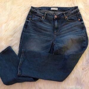 Ann Taylor Loft Jeans 4/27 curvy kick crop